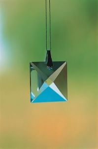 Crystal~Square 22 Clear Swarovski Hanging Rainbow Crystal-A stunning array of dancing light